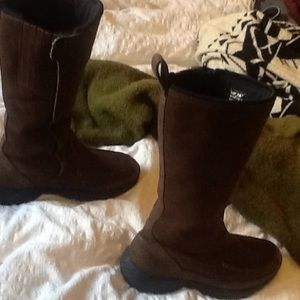 😍 Land's End lined suede moccasin winter boots